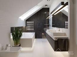 Projekt domu HomeKONCEPT 51: styl , w kategorii Łazienka zaprojektowany przez HomeKONCEPT | Projekty Domów Nowoczesnych