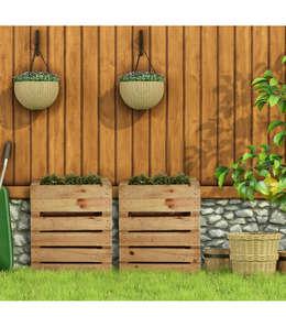 Jardinera hecha con palets: Jardín de estilo  de Banshehogar