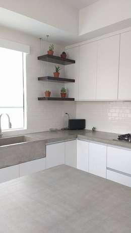 Sink de concreto: Cocina de estilo  por Pitaya