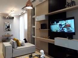 Diseño y construccion (Reforma y remodelacion) - Apto de soltero - Barranquilla: Salas de estilo industrial por Savignano Design