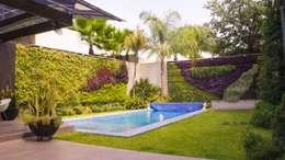"""Jardín Vertical """"Cromosomas"""": Jardines de estilo moderno por MÁS HÁBITAT"""