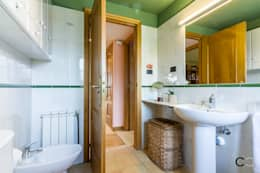 rustic Bathroom by CCVO Design and Staging