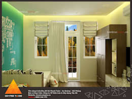 Phòng ngủ con trai:  Phòng ngủ by KIẾN TRÚC TÂY HỒ