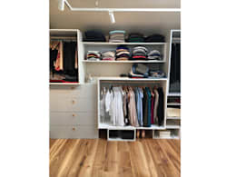 غرفة الملابس تنفيذ PWQUADRAT Wagner Weinzierl Architekten pw2