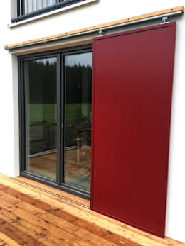 Sliding doors by PWQUADRAT Wagner Weinzierl Architekten pw2