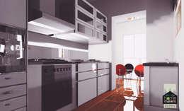 Black Kitchen:  Built-in kitchens by home makers interior designers & decorators pvt. ltd.