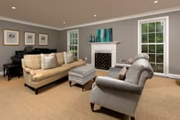 Whole House Design Build Renovation in Bethesda, MD: classic Living room by BOWA - Design Build Experts