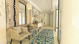 Pasillos, vestíbulos y escaleras de estilo moderno de Karoline Martins - Arquitetura & Interiores