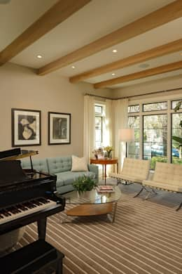 Fire Restoration in Chevy Chase Creates Opportunity for Whole House Renovation: classic Living room by BOWA - Design Build Experts