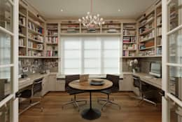 Fire Restoration in Chevy Chase Creates Opportunity for Whole House Renovation: classic Study/office by BOWA - Design Build Experts