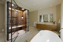 Fire Restoration in Chevy Chase Creates Opportunity for Whole House Renovation: classic Bathroom by BOWA - Design Build Experts
