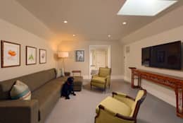 Fire Restoration in Chevy Chase Creates Opportunity for Whole House Renovation: classic Media room by BOWA - Design Build Experts