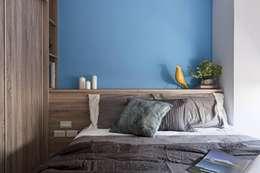 樸.淨:  臥室 by 築川室內裝修設計有限公司