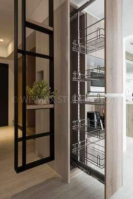 樸.淨:  廚房 by 築川室內裝修設計有限公司