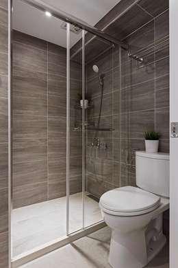 樸.淨:  浴室 by 築川室內裝修設計有限公司