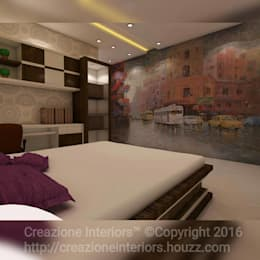 : modern Bedroom by Creazione Interiors