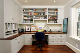 Luxury Kalorama Condo Renovation in Washington DC: classic Study/office by BOWA - Design Build Experts