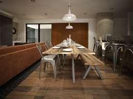 Diseño de comedor: Comedores de estilo industrial por Zono Interieur