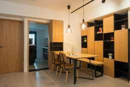 餐廳:   by 寬軒室內設計工作室