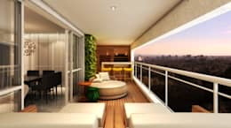 Varanda Gourmet: Terraços  por Semíramis Alice Arquitetura & Design
