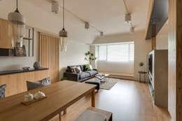 غرفة المعيشة تنفيذ 御見設計企業有限公司