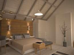 Projekty,  Sypialnia zaprojektowane przez Isabel Gomez Interiors