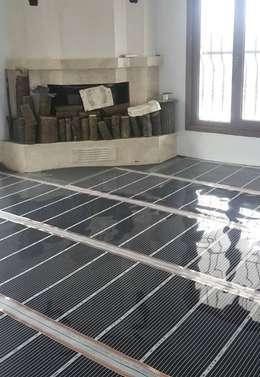 Karbonik ısıtma sistemleri – Parke altı ısıtma sistemi:  tarz Ev İçi