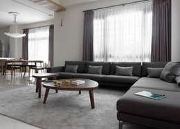 غرفة المعيشة تنفيذ 夏沐森山設計整合