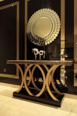 غرفة المعيشة تنفيذ Kottagaris interior design consultant