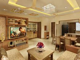 3 Floor Residential Villa: classic Living room by Srijan Homes