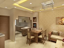 3 Floor Residential Villa: classic Kitchen by Srijan Homes
