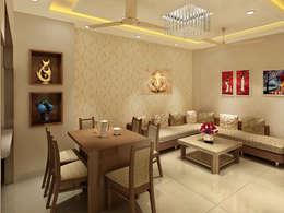 3 Floor Residential Villa: classic Dining room by Srijan Homes