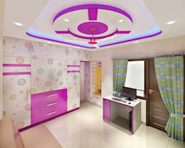 3 BEDROOM + STUDY: classic Study/office by Srijan Homes