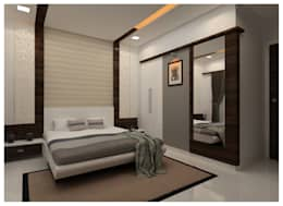 Bedroom: modern Bedroom by Shrishti Associates