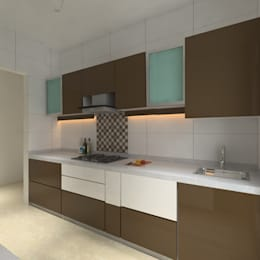 Kitchen: modern Kitchen by Shrishti Associates