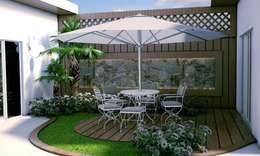 Estanques de jardín de estilo  por Renato Sabadin