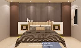 Mr S House (Emerald Town House PIK):  Kamar Tidur by JESSICA DESIGN STUDIO