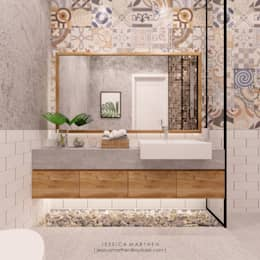 Phòng tắm by JESSICA DESIGN STUDIO