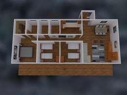 Diseño de casas en 3D:  de estilo  por Badich Arquitectura Y Costrucción SpA