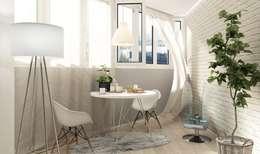 Salas / recibidores de estilo escandinavo por Студия интерьера go design