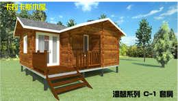 套房式小木屋:  木屋 by 金城堡股份有限公司