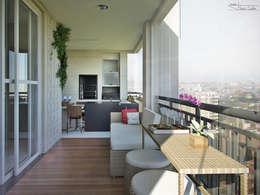 Residencial Mooca: Terraços  por SET Arquitetura e Construções