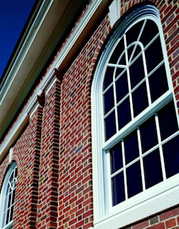 Custom-mulled Sliding Sash Window With Round Top Feature:  Windows & doors  by Marvin Architectural