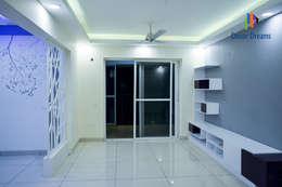 SNN Raj Serenity, 3 BHK - Mr. Ramprasath: modern Living room by DECOR DREAMS