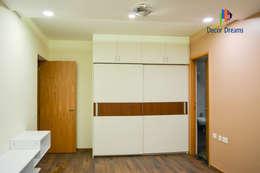 SNN Raj Serenity, 3 BHK - Mr. Ramprasath: modern Bedroom by DECOR DREAMS