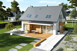 Nils G2 - nowoczesny dom dla każdego : styl nowoczesne, w kategorii Domy zaprojektowany przez Pracownia Projektowa ARCHIPELAG