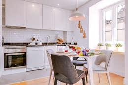 Apartamentos Alfama / Lisboa - Apartments in Alfama / Lisbon: Salas de jantar modernas por Ivo Santos Multimédia