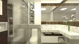modern Bathroom by SPATIO ARQUITETURA E URBANISMO