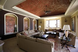 colonial Living room by DHI Riviera Maya Architects & Contractors