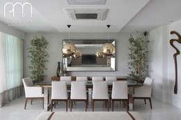 Apartamento JF  Barra da Tijuca Rio de Janeiro: Salas de jantar modernas por Paula Müller Arquitetura e Design de Interiores